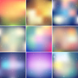 Blur backgrounds pack Stock Image