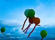 Blur balloons with blue sky background Royalty Free Stock Photos