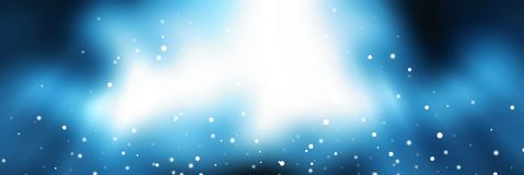 Blur banner diffuse dark clouds looming over horizon. From clouds comes a fine, white snow. Weather forecast for a bad winter. Stock Photo