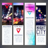 Blur banners night city vector template design Royalty Free Stock Photography