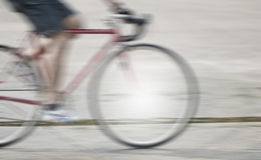 Blur bicycle Royalty Free Stock Photography