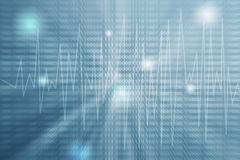Blur binary code on light blue gradient color Royalty Free Stock Photo