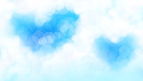 Blur blue sky bokeh heart background. Royalty Free Stock Photography