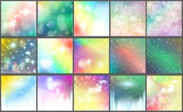 Blur bokeh Abstract  bright color background Royalty Free Stock Photography