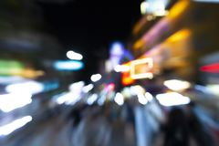 Blur bokeh background night market thailand royalty free stock photography