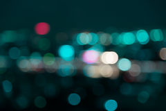 Blur bokeh  City night light Royalty Free Stock Photo