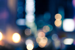 Blur bokeh defocused of city at night background Royalty Free Stock Photography
