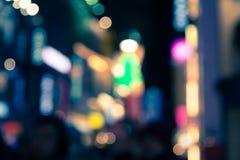Blur bokeh defocused of city at night background Royalty Free Stock Image