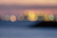 Blur Bokeh light. Bokeh on defocused sea background Royalty Free Stock Image