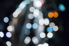 Blur bokeh light of traffic at night scene Royalty Free Stock Photography