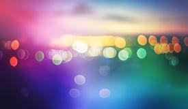Blur bokeh lights Stock Image
