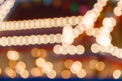 Blur and bokeh of lights at temple Royalty Free Stock Photos