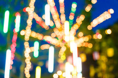 Blur and bokeh of lights at temple Stock Photos