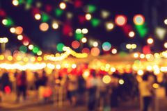 Blur bokeh night festival warm light cool chill party royalty free stock photos