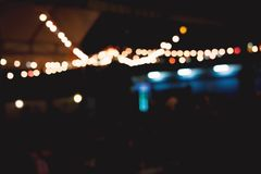 blur and bokeh of night party in a restaurant stock images
