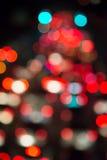 Blur bokeh of traffic light Stock Photo