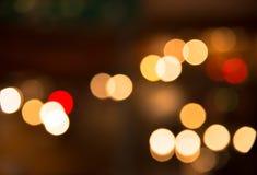 Blur bokeh traffic at night Stock Images