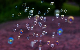 Blur bubbles on natural background. Royalty Free Stock Photography