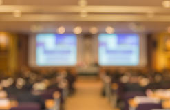 Blur of business Conference and Presentation in the conference h Royalty Free Stock Photography