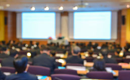 Blur of business Conference and Presentation in the conference h Royalty Free Stock Photo