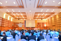 Blur of business Conference and Presentation in the conference h Royalty Free Stock Photos
