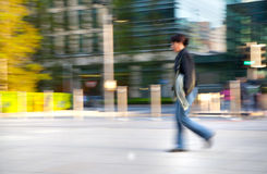 Blur, Business people walking on the street against of Bank of England wall Royalty Free Stock Photo