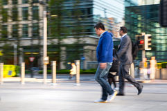 Blur, Business people walking on the street against of Bank of England wall Royalty Free Stock Images