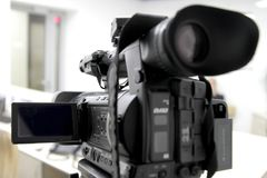 Blur of camcorder while filming. Royalty Free Stock Image