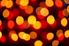 Blur candle lights in a church Royalty Free Stock Photography