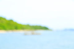 Blur of Cape, Beach and Sea, Thailand Stock Images