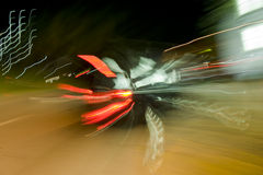 The Blur of Car Lights Stock Photos