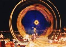 Blur of carnival ride