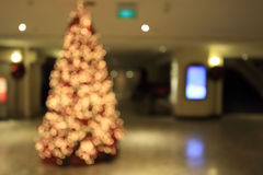 Blur of christmas tree Royalty Free Stock Photo