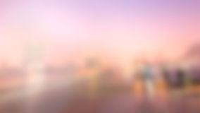 Blur City Background. Building, Ferris wheel and Beautiful Sky. Royalty Free Stock Images