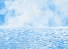 Blur clouds skyline in a water foregrounds Stock Image