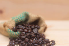 Blur coffee beans in the bag. Blur coffee beans texture in the bag royalty free stock photography