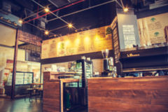 Blur coffee shop- vintage effect style pictures Stock Photography
