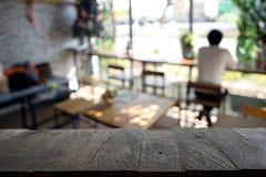 blur coffee shop window Stock Image