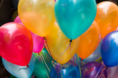 Blur Colorful Big Balloon Royalty Free Stock Photography