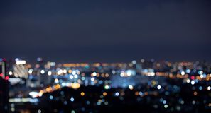 Blur colorful bokeh night city landscape. Background royalty free stock photos