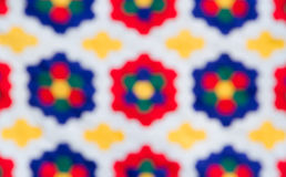 Blur of colorful fabric. Blur version of colorful handmade fabric Royalty Free Stock Images