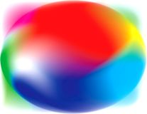 Blur colorfully myst liquid drop. Blur painting watercolor art experiment Vector Illustration