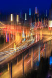 Blur colors on the overpass Stock Images
