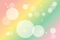 Blur colourful drawing circle Royalty Free Stock Image