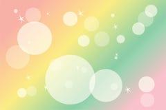 Blur colourful drawing circle Royalty Free Stock Image