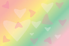Blur colourful drawing heart Royalty Free Stock Images
