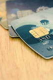 Blur credit card with chip Stock Photo