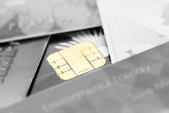 Blur credit card with chip Royalty Free Stock Image