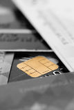 Blur credit card with chip Stock Photos