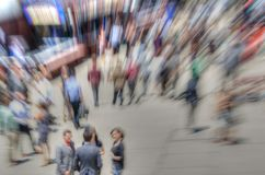 Blur of crowd of people Stock Photography